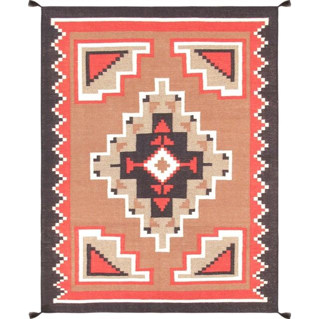 "Navajo Decorative Hand-Woven Rug - 5'3"" X 7'1"" - Image 1 of 3"