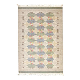 Maj Svanstrom Swedish Flat-Weave Carpet - 4′11″ × 7′11″ For Sale