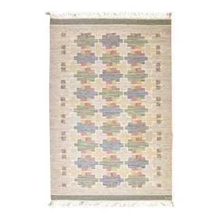 Swedish Flat-Weave Carpet by Maj Svanstrom, 1950's For Sale