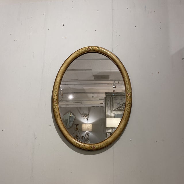 Vintage Yellow Hand-Painted Mirror For Sale In Houston - Image 6 of 7