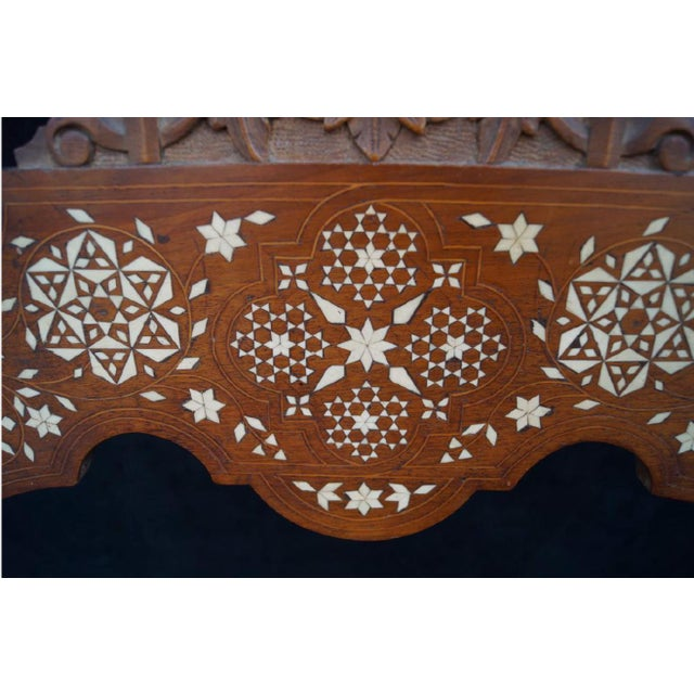 Moroccan Inlaid Savonarola Chair - Image 6 of 11