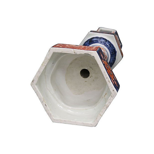 Boho Chic Antique Imari Lantern Base For Sale - Image 3 of 5
