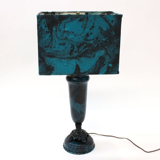 Transitional Marble Blue Table Lamp - Image 3 of 5