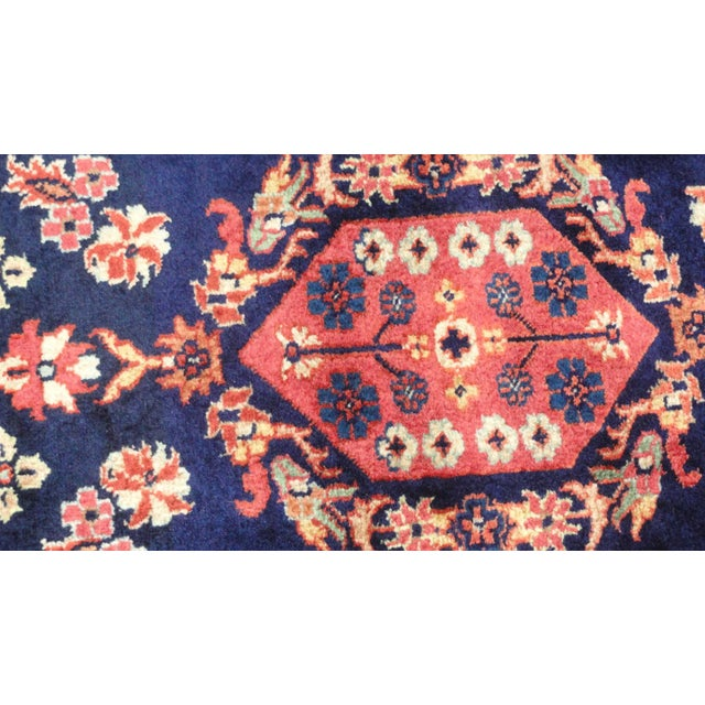 """Indian Sarouk Runner Rug - 9'10"""" x 2'10"""" For Sale - Image 4 of 5"""