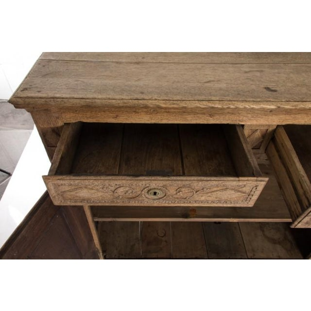19TH CENTURY BLEACHED OAK BUFFET For Sale - Image 9 of 10