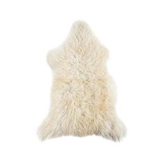 """Contemporary Natural Wool Sheepskin Pelt - 2'1""""x3'1"""""""