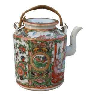 Chinese Export Rose Medallion Teapot - Famille Rose - Rose Canton - c. 1900
