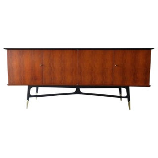 1960s Vintage Italian Curved Front Credenza For Sale