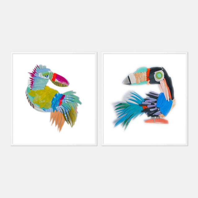 Paper Bird's Eye Gallery Wall, Set of 3 For Sale - Image 7 of 9