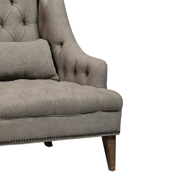 Tall Tufted Arm Chair - Image 2 of 2