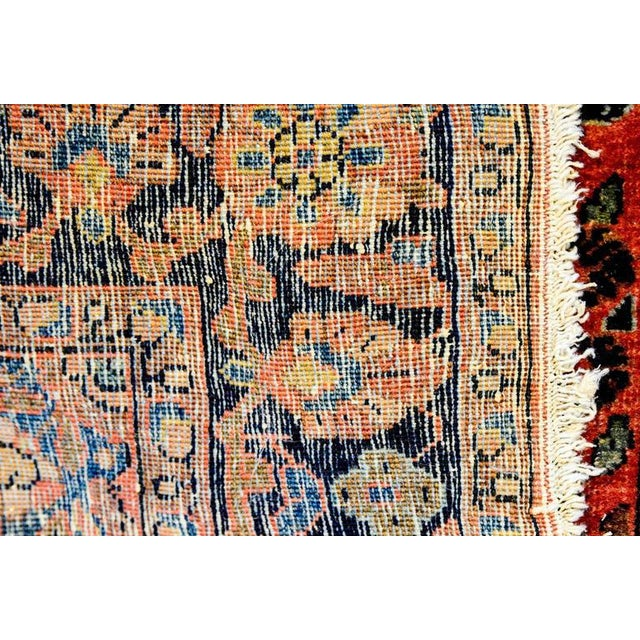 Exceptional Early 20th Century Petite Sarouk Rug - 2′2″ × 2′8″ - Image 5 of 5
