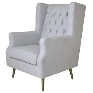 Modern Pasargad Home Beige Thomas Armchair For Sale