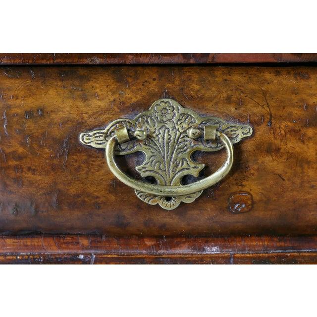 1900 - 1909 George II Style Walnut Pedestal Desk For Sale - Image 5 of 12
