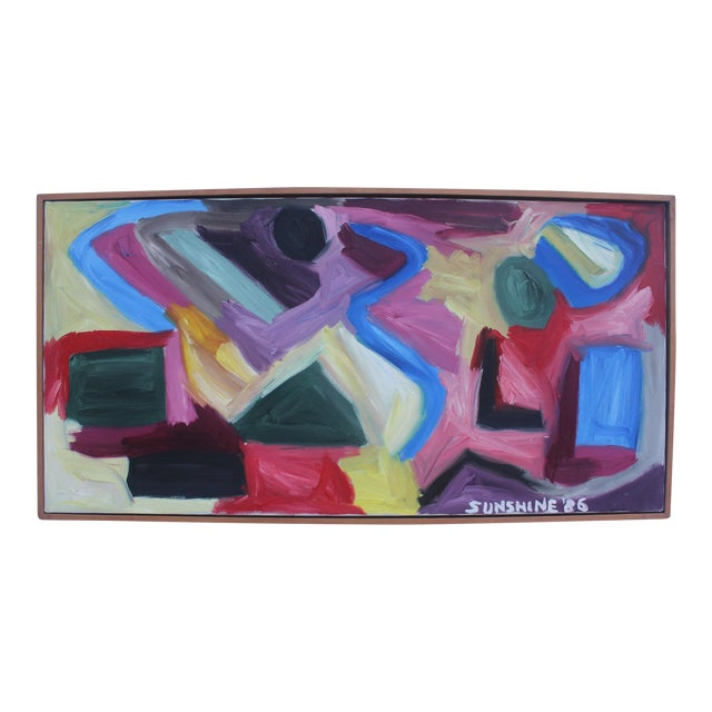 1986 Vintage Expressionist Painting For Sale