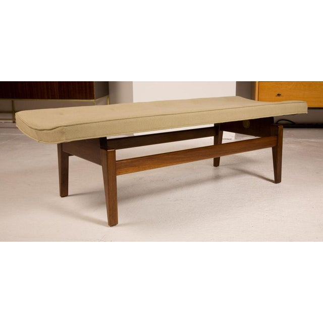 Mid-Century Modern Jens Risom Floating Upholstered Benches - a Pair For Sale - Image 3 of 6