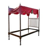 Image of Portuguese Rosewood Tester Bed For Sale