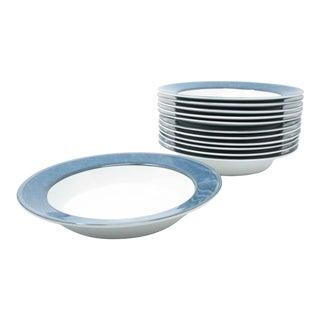 Vintage Dansk Gridworks Blue Rimmed Bowls - Set of 8 For Sale