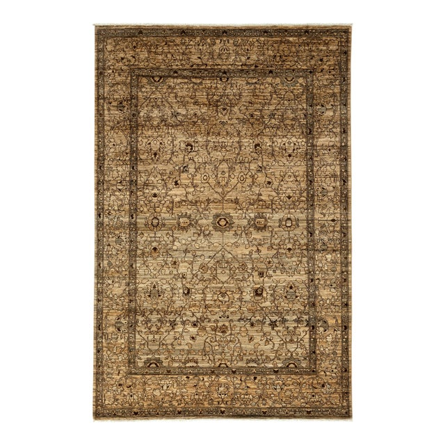 "Gabbeh Hand Knotted Area Rug - 6'7"" X 9'9"" - Image 1 of 3"
