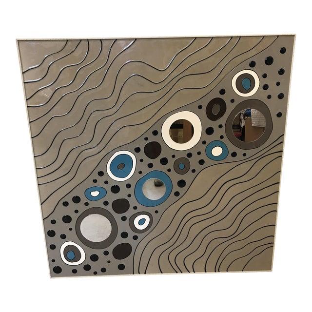 Modern Geometric Art on Board For Sale