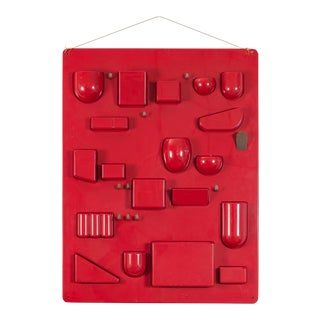 Red Uten.Silo Wall Organizer by Dorothee Becker For Sale
