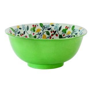 Madcap Cottage Crewel Summer Porcelain Bowl For Sale