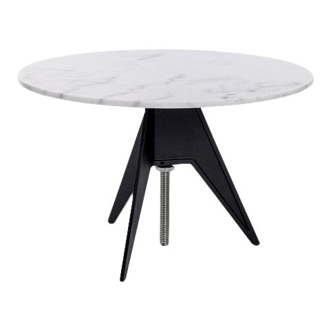 Tom Dixon Screw Table with White Marble Top For Sale