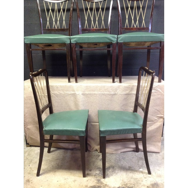 Mid-Century Italian Rope Back Dining Chairs - Set of 6 - Image 5 of 11
