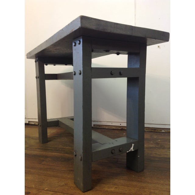 Primitive Industrial Gray Potting Table - Image 6 of 10