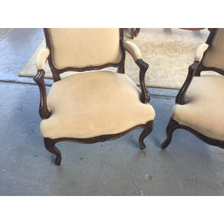 French Bergere a Pair Linen Upholstery Preview