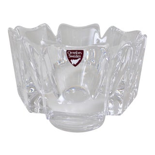 Orrefors Crystal 'Corona'-Signed Bowl For Sale