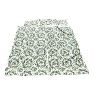 """Christopher Norman """" Acorn Wreath """" Curtains With Valances - 5 Pieces For Sale"""