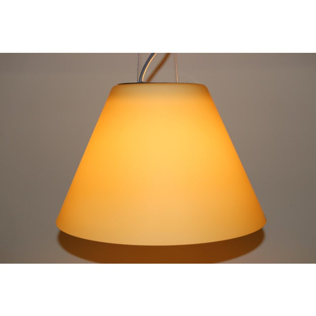 Amber Mid-Century Modern Pendant Lamp by Carlo Nason for Itre Murano Amber Glass For Sale - Image 8 of 12