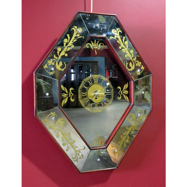 Mid 20th Century Regency Style Wall Clock For Sale - Image 5 of 5