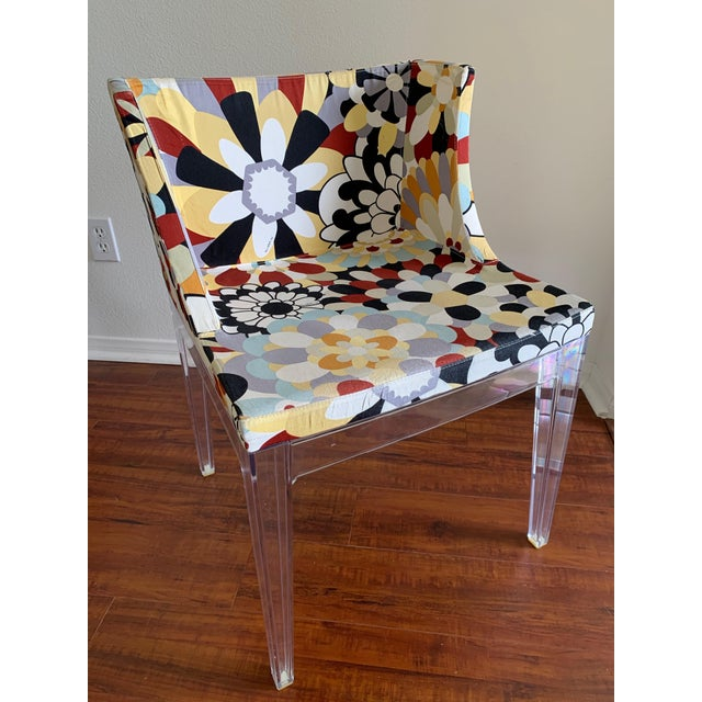 Acrylic Kartell Phillipe Starck Missoni Fabric Mademoiselle Chairs - a Pair For Sale - Image 7 of 9
