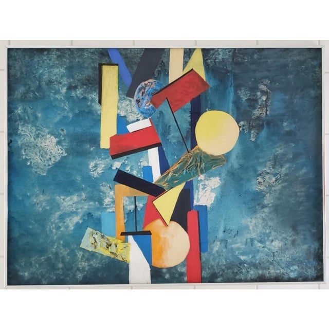 1960 Abstract Cubist Mid Century Modern Huge Original Painting For Sale In Tampa - Image 6 of 10