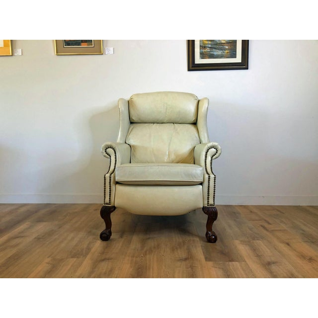 Vintage Bradington Young Leather Wingback Recliner For Sale - Image 13 of 13