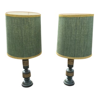 Mid-Century James Mont Style Table Lamps - A Pair For Sale