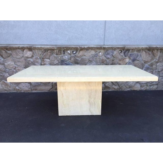Large Italian Travertine Dining Table - Image 2 of 6