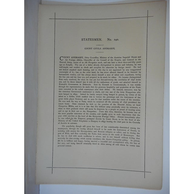Folio Size Antique Vanity Fair Lithograph For Sale - Image 4 of 4