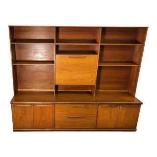 Midcentury Teak Wall Unit by Meredew For Sale
