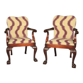 George III Style Open Armchairs - a Pair For Sale