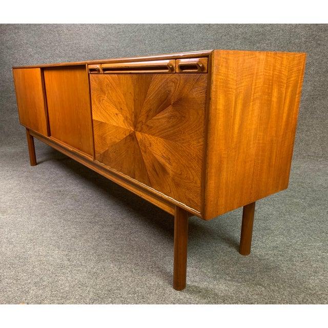 "1960s 1960s British Mid Century Modern McIntosh Teak ""Sunburst"" Credenza For Sale - Image 5 of 11"