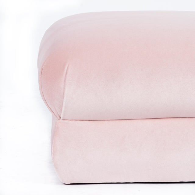 Not Yet Made - Made To Order Casa Cosima Milan Ottoman in Blush Velvet, a Pair For Sale - Image 5 of 7