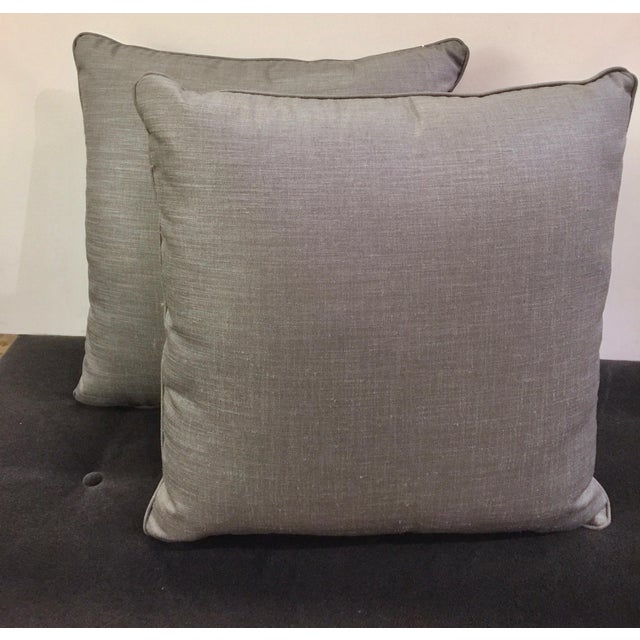 Light Gray Throw Pillows - a Pair - Image 2 of 4