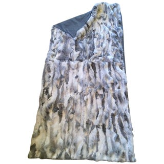Multi-Color Sheer Fur & Cashmere Throw For Sale