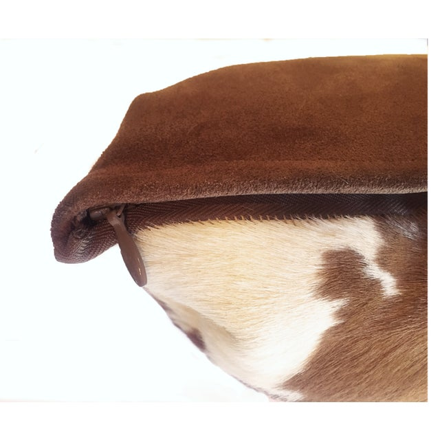 Contemporary Calf Hide Hair Lumbar Pillows For Sale - Image 3 of 5