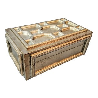 Champagne Gold Wooden Decorative Box For Sale