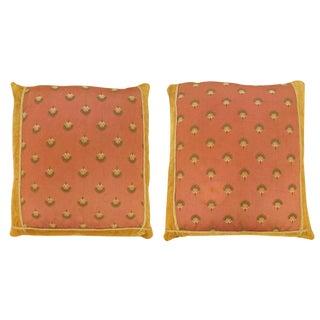 """Vintage Art Deco European Textile Pillows, Size 1' 8""""h X 1'6"""" - a Pair For Sale"""