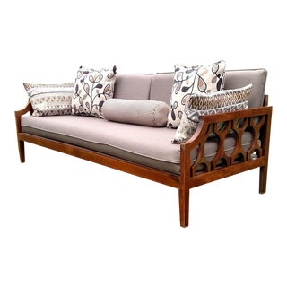 Mid Century American Classical Walnut Sofa/Daybed For Sale