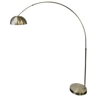 Mid Century Chrome Arc Floor Lamp Space Age For Sale